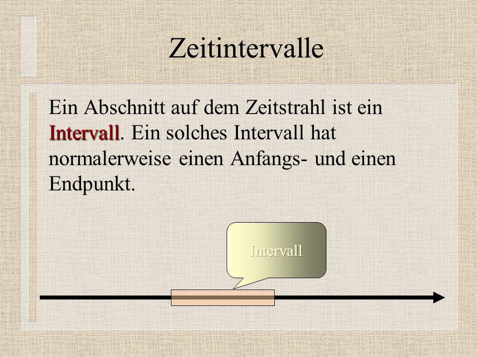 Zeitintervalle Intervall Ein Abschnitt auf dem Zeitstrahl ist ein Intervall.