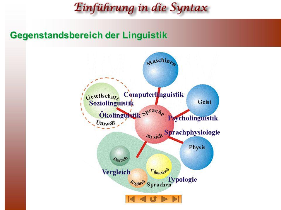 Gegenstandsbereich der Linguistik