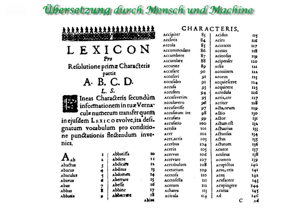 Georges Artsouni (1933) Der Franco-Armenier Georges Artstruni entwarf 1933 eine Speichervorrichtung auf Papierband, mit der für ein beliebiges Wort die Entsprechung in einer anderen Sprache aufgefunden werden sollte.