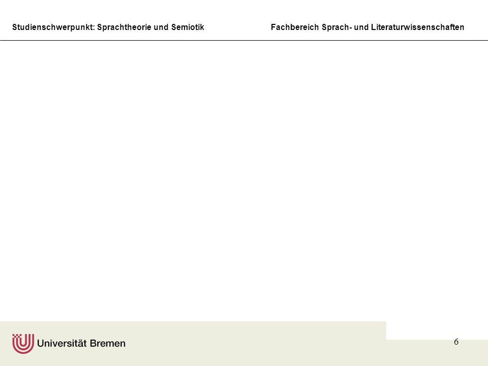 Studienschwerpunkt: Sprachtheorie und SemiotikFachbereich Sprach- und Literaturwissenschaften 6