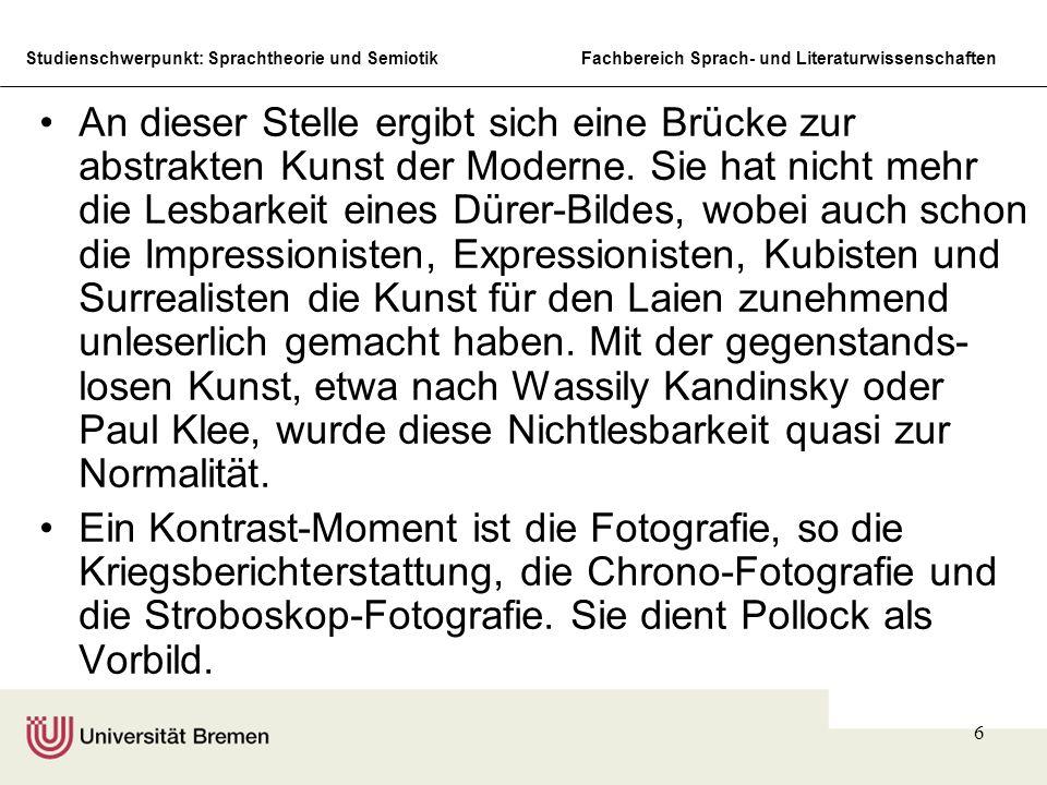 Studienschwerpunkt: Sprachtheorie und SemiotikFachbereich Sprach- und Literaturwissenschaften 17 Grey and Red, 1948, Lack auf Papier, 57,5 x 78,4 cm, Frederik R.