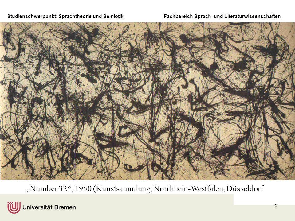 Studienschwerpunkt: Sprachtheorie und SemiotikFachbereich Sprach- und Literaturwissenschaften 9 Number 32, 1950 (Kunstsammlung, Nordrhein-Westfalen, D