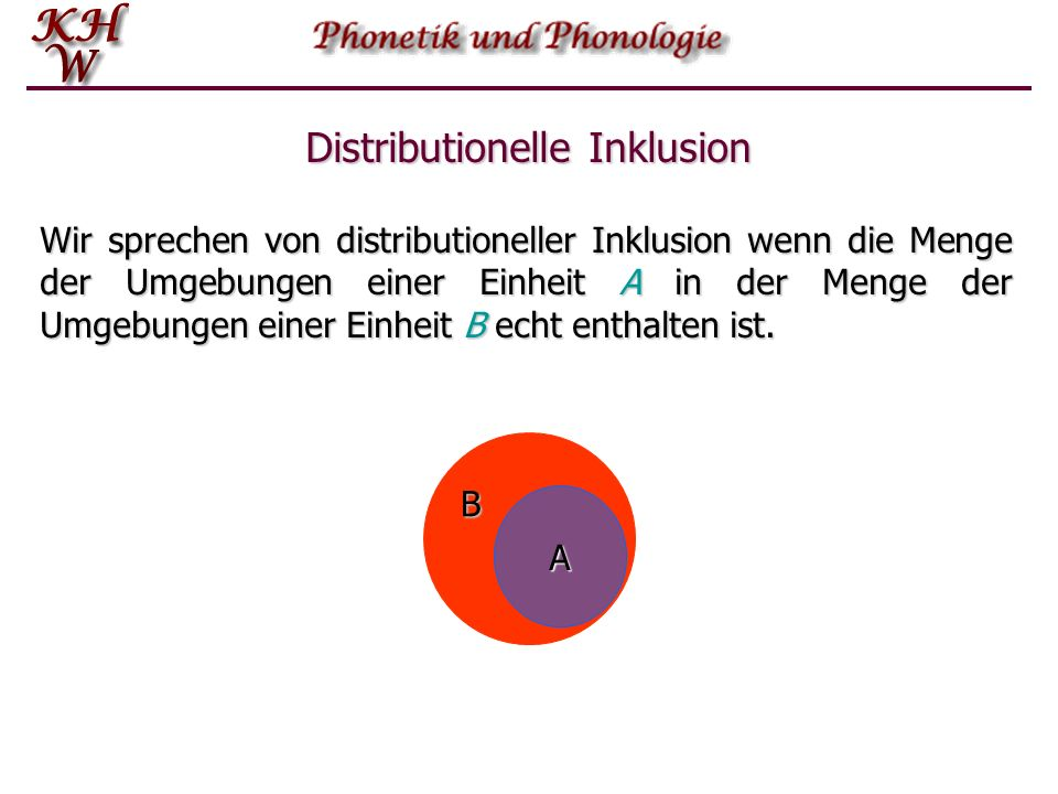 Distribution A=BAB distributionelleÄquivalenzkomplementäreDistribution