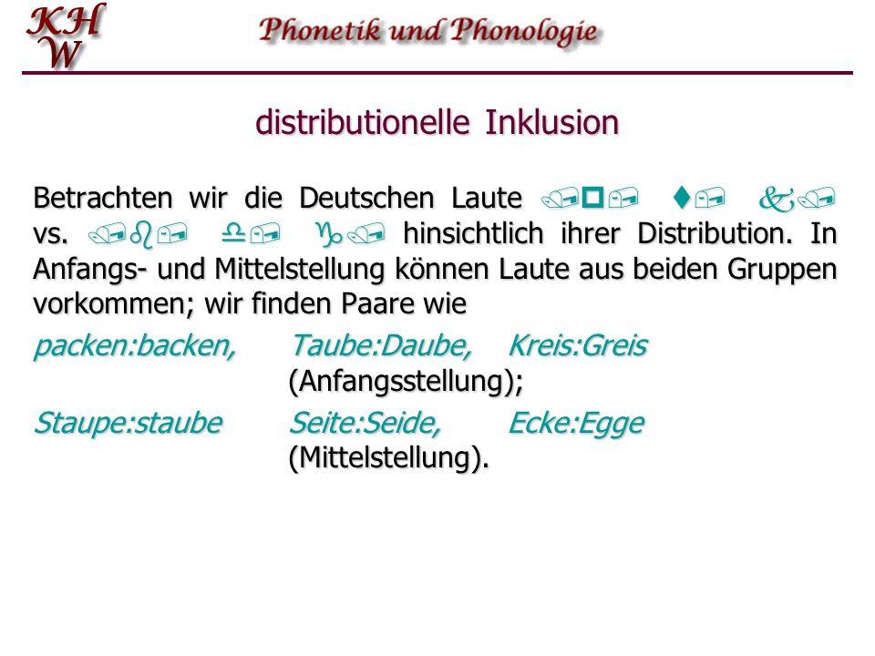 B Distributionelle Inklusion Wir sprechen von distributioneller Inklusion wenn die Menge der Umgebungen einer Einheit A in der Menge der Umgebungen ei