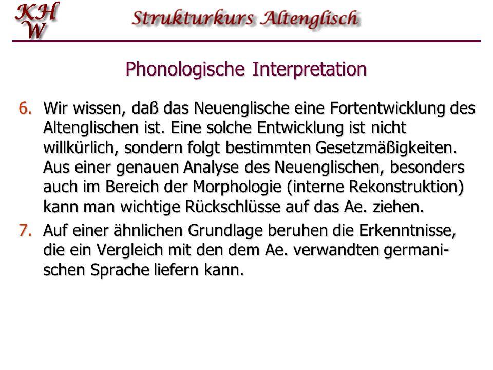 Phonologische Interpretation 4.Ähnliche Schlüsse kann man aus Neutralisationsfällen ziehen. Der Wechsel zwischen i und g in iung ~ gung (auch geong, i