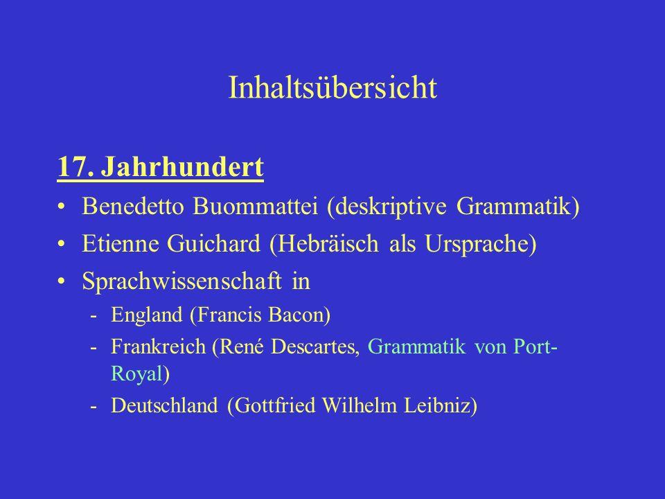 Die Grammatik von Port-Royal in französisch geschrieben Verbreitung über ganz Europa Bis 1846 Neuauflagen und Nachdrucke