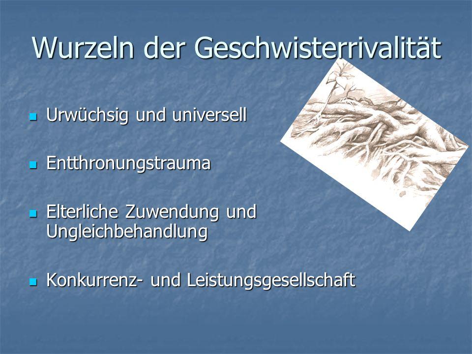 Weitere Zentrale Merkmale von Geschwisterbeziehungen (GB) 1.GB werden faktisch immer seltener (im Durchschnitt werden in Österreich gegenwärtig nur no
