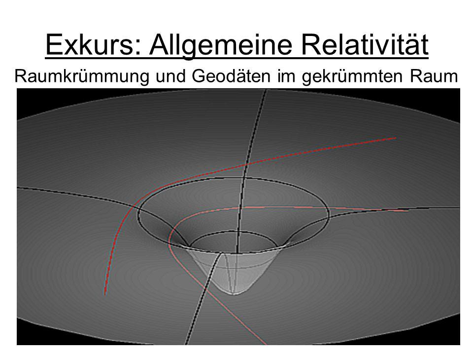 Exkurs: Allgemeine Relativität Raumkrümmung und Geodäten im gekrümmten Raum