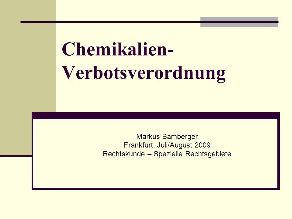 Juli/August 20092 Einführung Die Inverkehrbringungsverbote und -beschränkungen, bezogen auf die im Anhang zu § 1 gelisteten besonders gefährlichen Chemikalien Das fortgeschriebene Gifthandelsrecht, d.h.