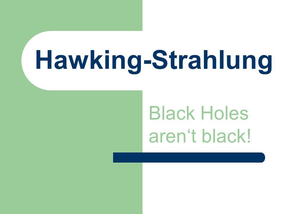 Hawking-Strahlung Black Holes arent black!