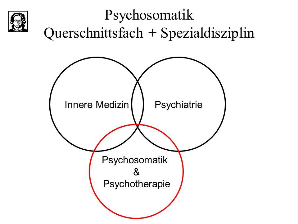 Psychosomatik Querschnittsfach + Spezialdisziplin Innere MedizinPsychiatrie Psychosomatik & Psychotherapie