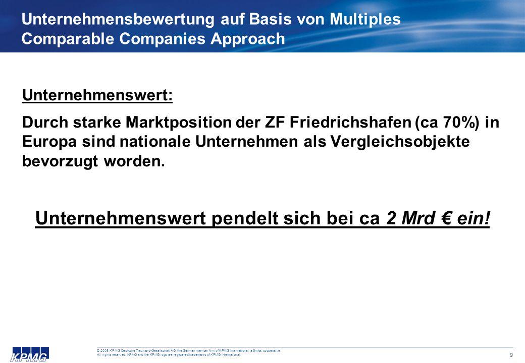 9 © 2005 KPMG Deutsche Treuhand-Gesellschaft AG, the German member firm of KPMG International, a Swiss cooperative.