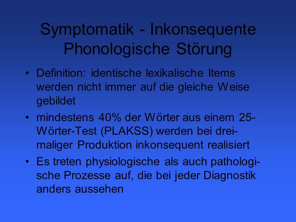 Phonologische Prozesse Strukturelle Vereinfachungen Systemische Vereinfachungen Artikulatorische Prozesse