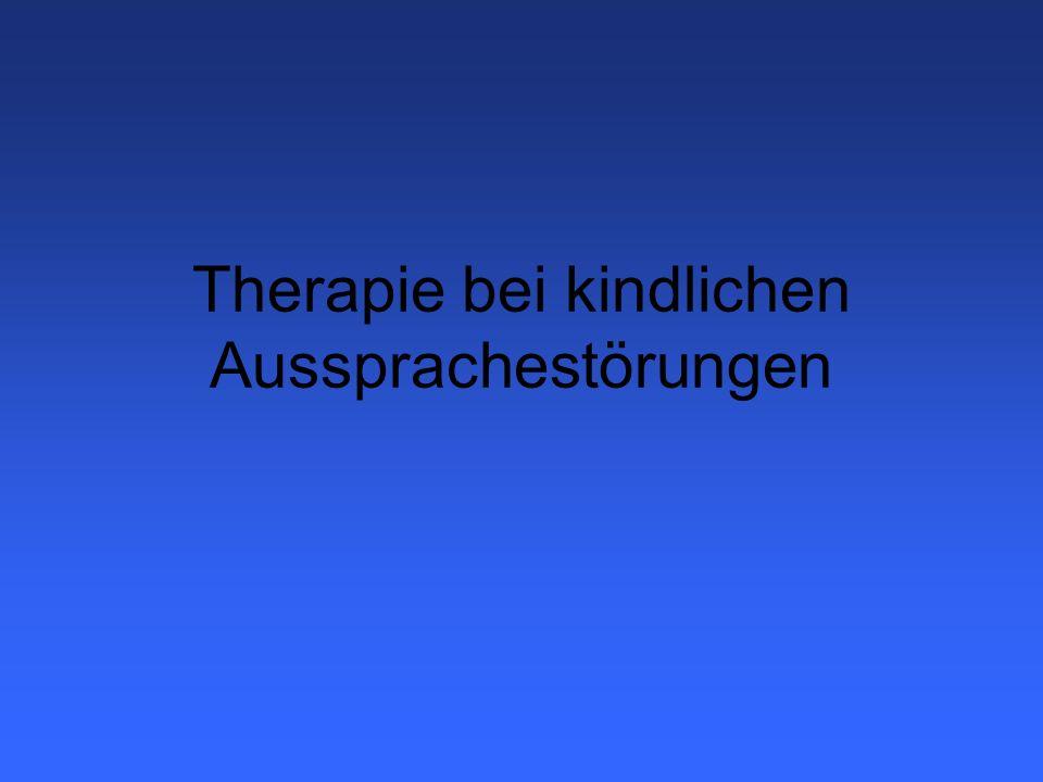 Therapieformen Artikulationstherapie (Van Riper / Franke) Phonologische Therapieformen Metaphon Minimalpaartherapie P.O.P.T (Fox) Inkonsequenz-Therapie Kernvokabulartherapie