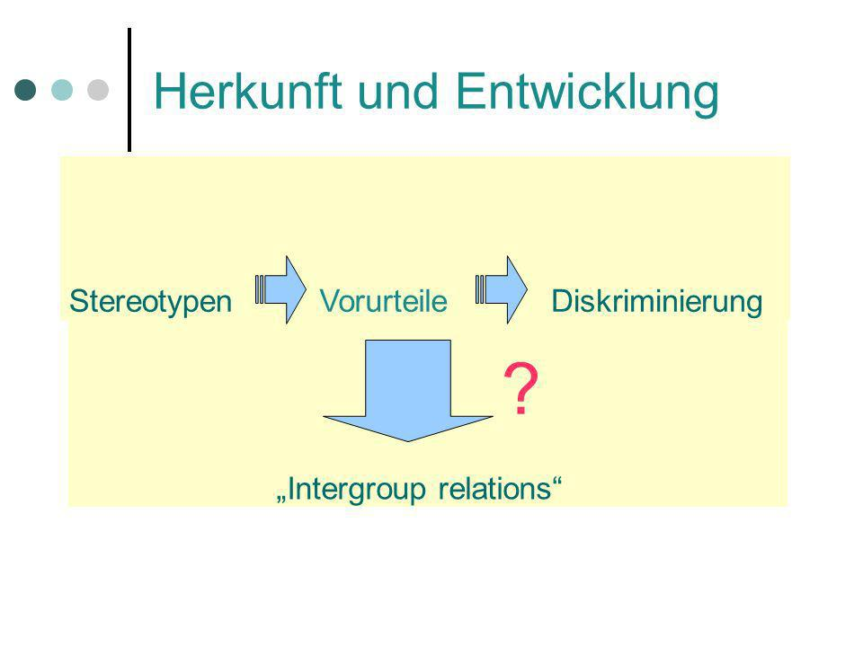 Modelle Dissociation Model of stereotypes Unterscheidung zwischen Gedanken und Verhalten expliziter Rassismus vs.
