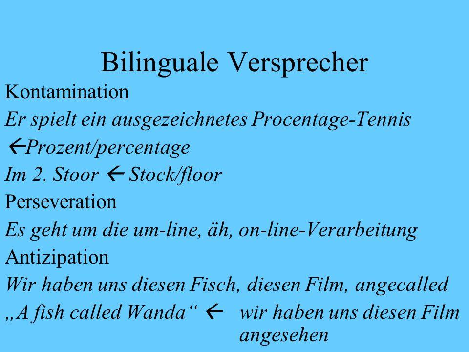 Gibt es wirklich so viele Sprachmischungen im doppelten Erstspracherwerb.