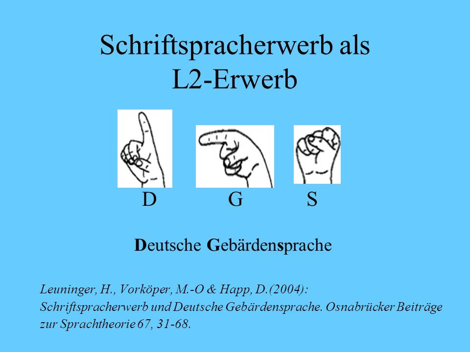 Literatur Tracy, R. / Gawlitzek-Maiwald (2000), Bilingualismus in der frühen Kindheit. In: Grimm, H. (Hrsg.), Enzyklopädie der Psychologie, Bd. 3: Spr