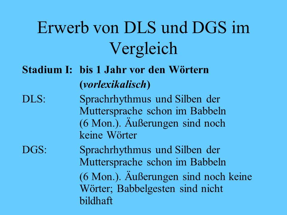 Schriftspracherwerb als L2-Erwerb DG S Deutsche Gebärdensprache Leuninger, H., Vorköper, M.-O & Happ, D.(2004): Schriftspracherwerb und Deutsche Gebärdensprache.
