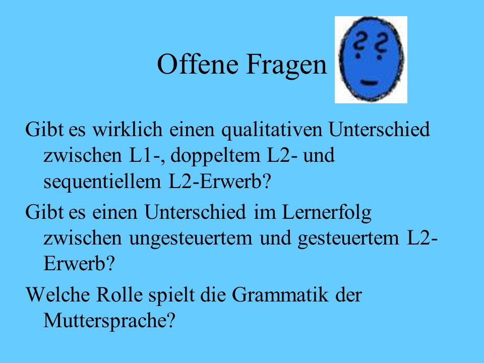 Schriftspracherwerb als L2-Erwerb Interferenzen aus der Muttersprache (Deutsche Gebärdensprache) nur in der manuellen Komponente DGS und Schriftsprach