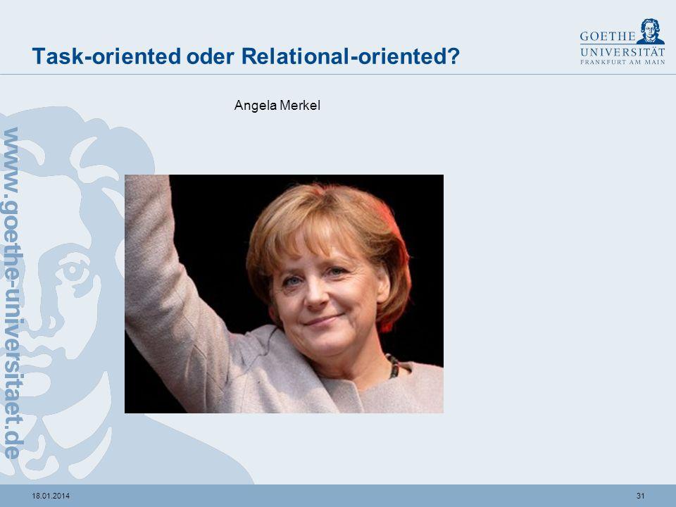 3018.01.2014 Task-oriented oder Relational-oriented? Günther Jauch