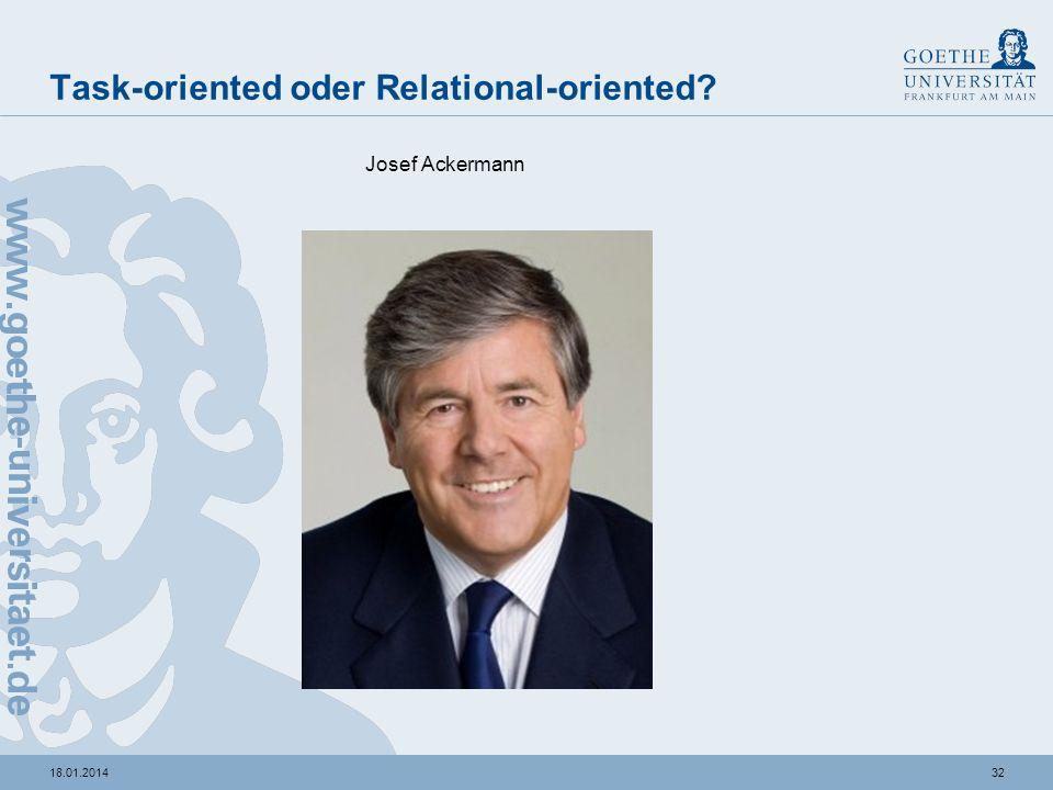 3118.01.2014 Task-oriented oder Relational-oriented? Angela Merkel