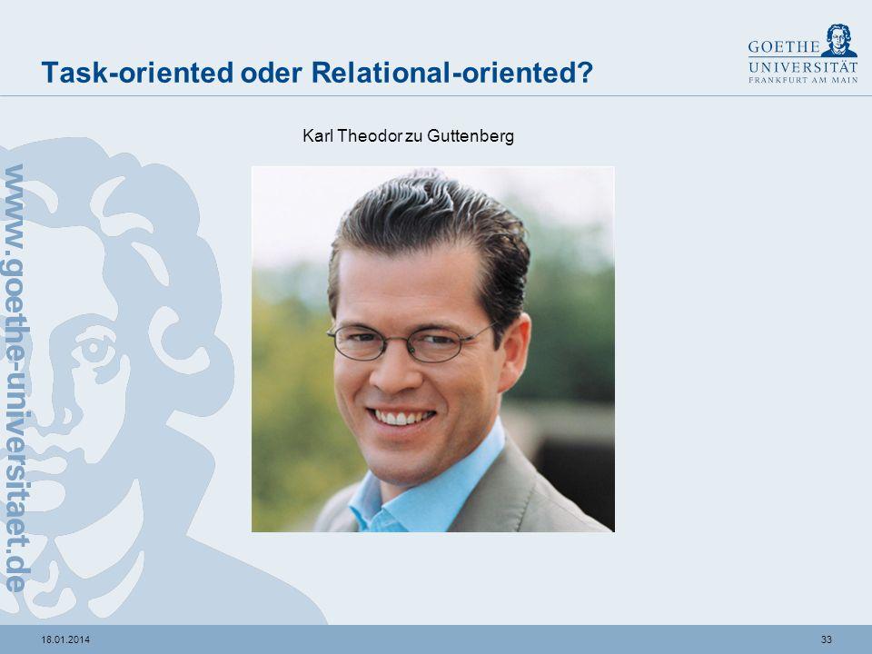 3218.01.2014 Task-oriented oder Relational-oriented? Josef Ackermann