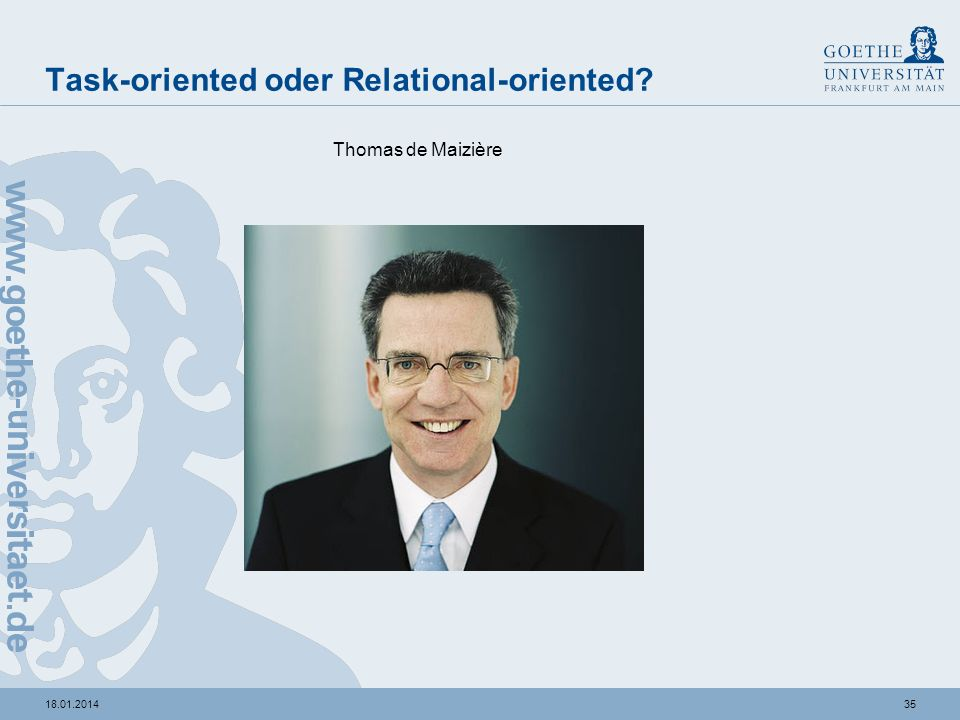 3418.01.2014 Task-oriented oder Relational-oriented? Hillary Clinton