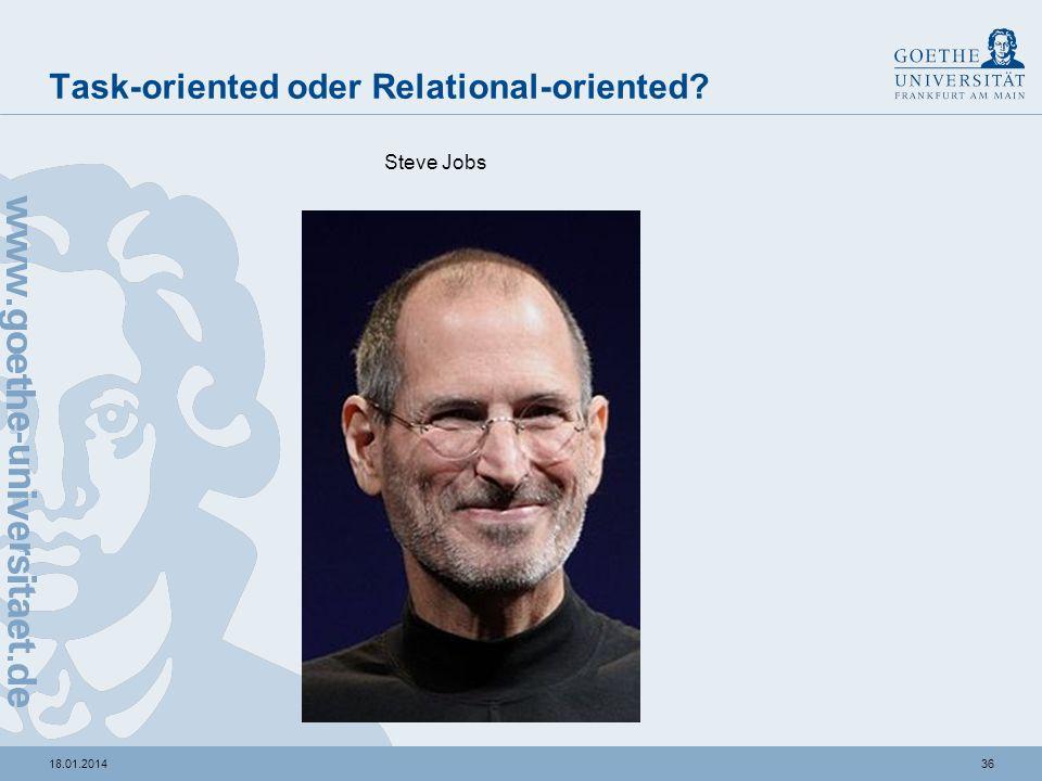 3518.01.2014 Task-oriented oder Relational-oriented? Thomas de Maizière