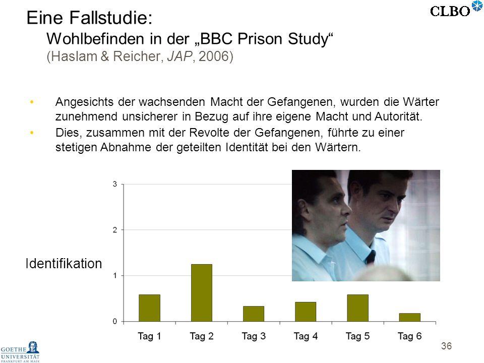 36 Angesichts der wachsenden Macht der Gefangenen, wurden die Wärter zunehmend unsicherer in Bezug auf ihre eigene Macht und Autorität. Dies, zusammen