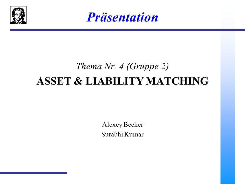 2 Asset & Liability Matching (Banc One 2) 1.Prolog 2.Swap 3.Swapbewertung 4.AIRS 5.Ökonomische Implikation für die Banc One Corp.