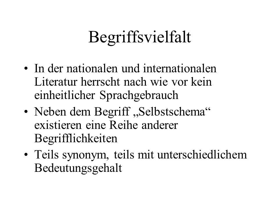 Integrativer Selbstschemaansatz Petersen, L.-E.(1994): Selbstkonzept und Informationsverarbeitung.