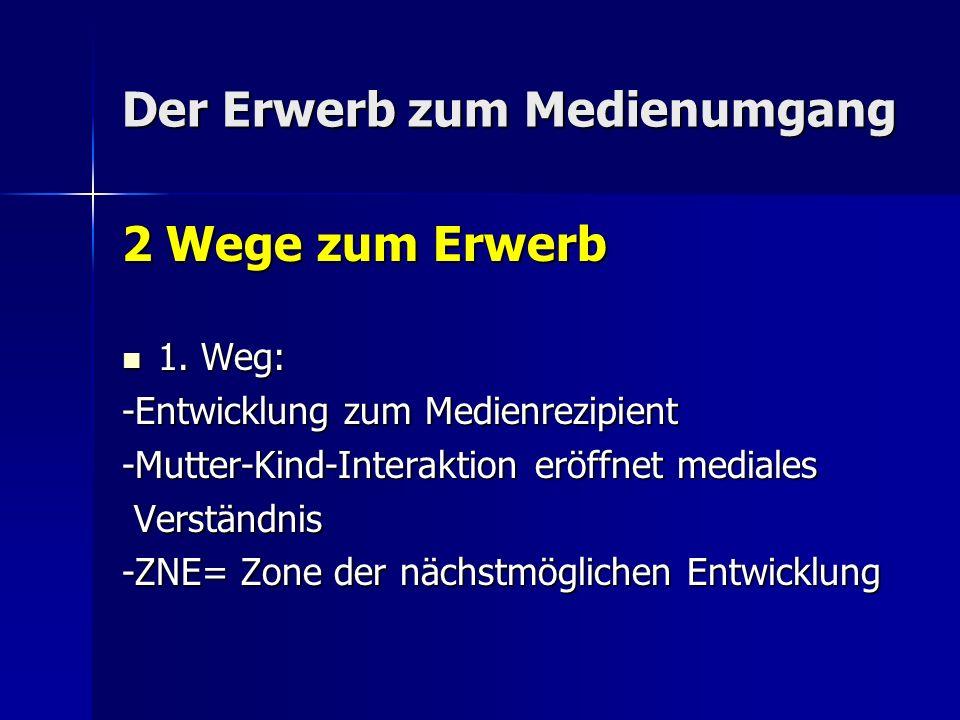 Der Erwerb zum Medienumgang 2 Wege zum Erwerb 1. Weg: 1.