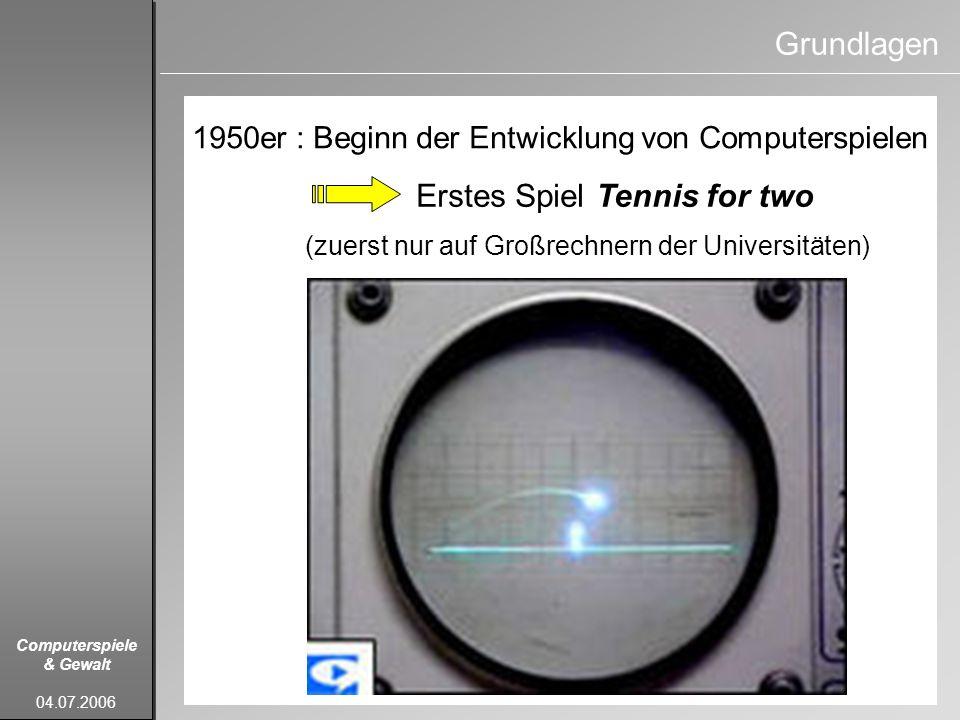 Computerspiele & Gewalt 04.07.2006 Mangold, R., Vorderer, P., Bente, G.