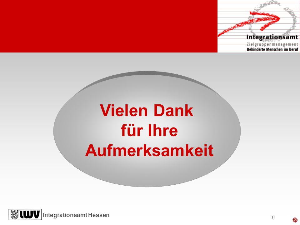 Integrationsamt Hessen 9 Vielen Dank für Ihre Aufmerksamkeit