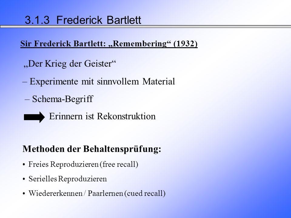 Ergebnisse der Selbst-Studien von Ebbinghaus VergessenskurveWiederholungen und Behaltensleistung 3.1.3 Hermann Ebbinghaus