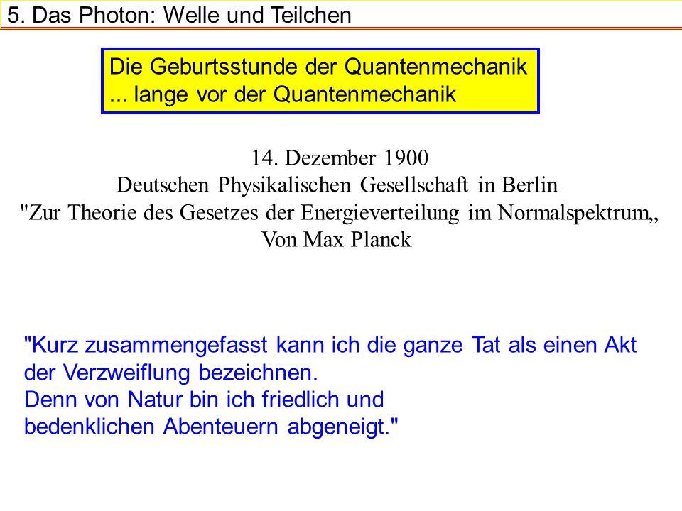 5.Das Photon: Welle und Teilchen 14.