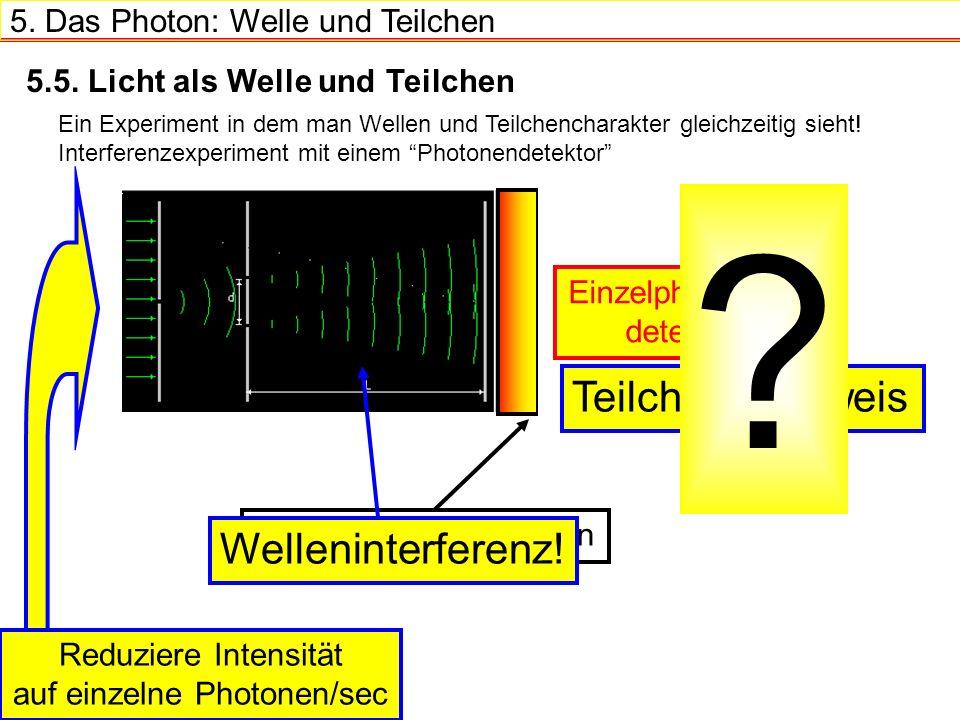 5.Das Photon: Welle und Teilchen 5.5.