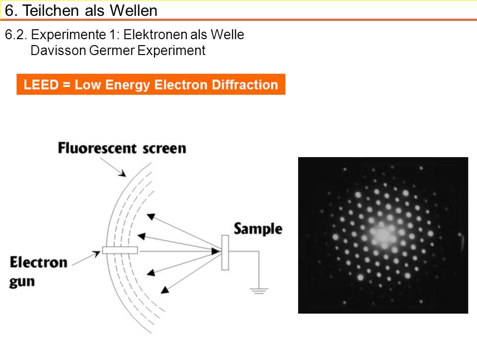 Teilchen als wellen 6 2 experimente 1 elektronen als welle