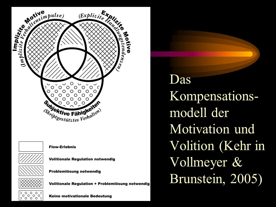 Das Kompensations- modell der Motivation und Volition (Kehr in Vollmeyer & Brunstein, 2005)