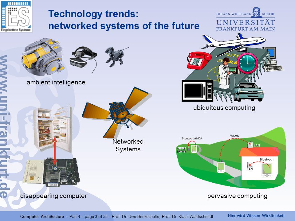 Hier wird Wissen Wirklichkeit Computer Architecture – Part 4 – page 4 of 35 – Prof.