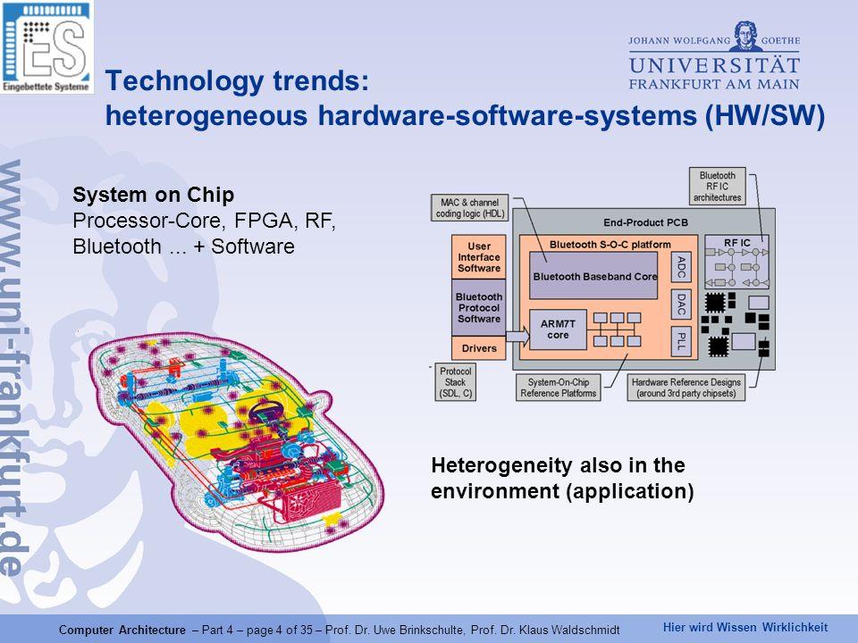 Hier wird Wissen Wirklichkeit Computer Architecture – Part 4 – page 5 of 35 – Prof.