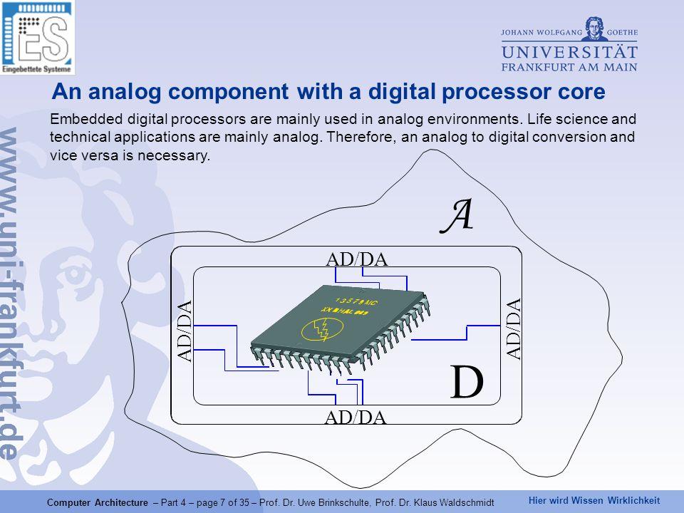 Hier wird Wissen Wirklichkeit Computer Architecture – Part 4 – page 8 of 35 – Prof.