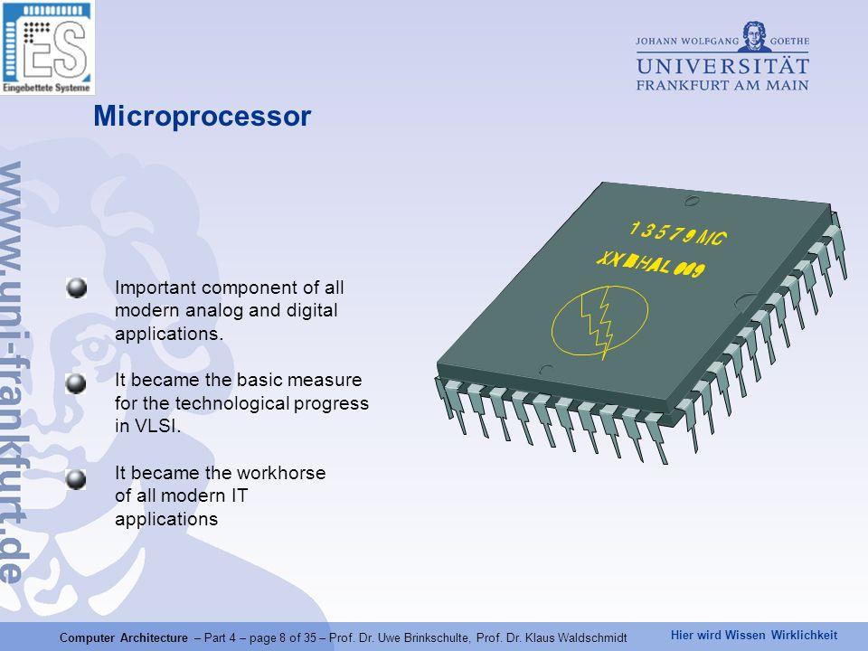 Hier wird Wissen Wirklichkeit Computer Architecture – Part 4 – page 29 of 35 – Prof.