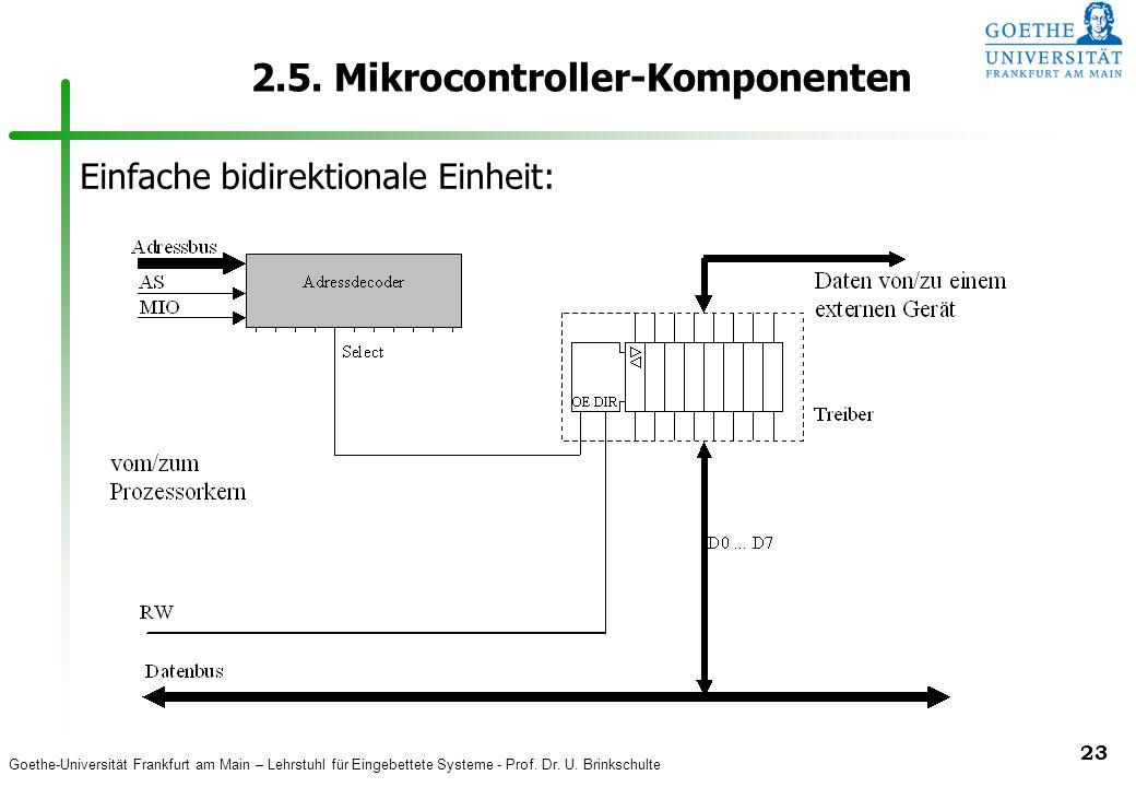 Goethe-Universität Frankfurt am Main – Lehrstuhl für Eingebettete Systeme - Prof. Dr. U. Brinkschulte 23 2.5. Mikrocontroller-Komponenten Einfache bid