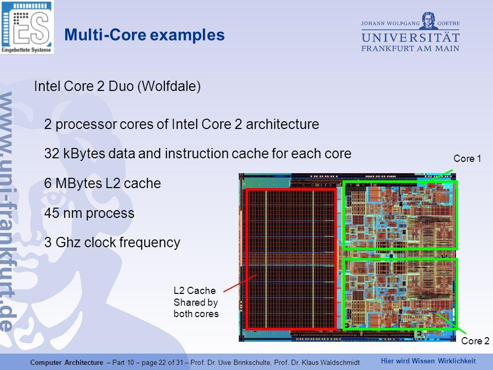 Hier wird Wissen Wirklichkeit Computer Architecture – Part 10 – page 22 of 31 – Prof.