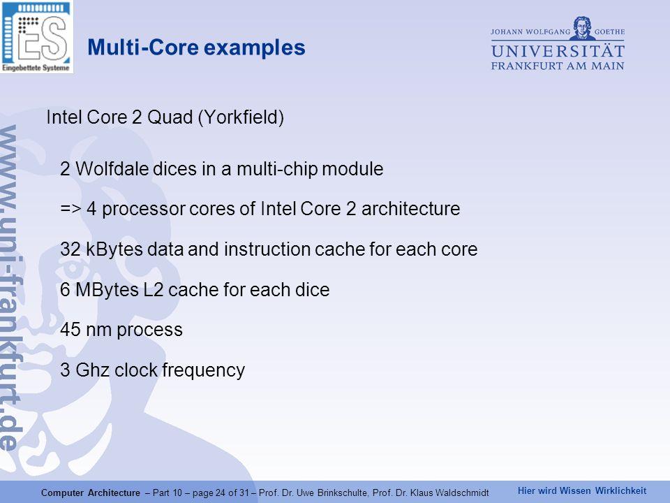 Hier wird Wissen Wirklichkeit Computer Architecture – Part 10 – page 24 of 31 – Prof.