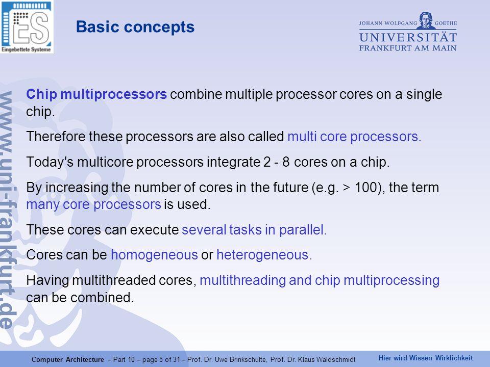 Hier wird Wissen Wirklichkeit Computer Architecture – Part 10 – page 5 of 31 – Prof.