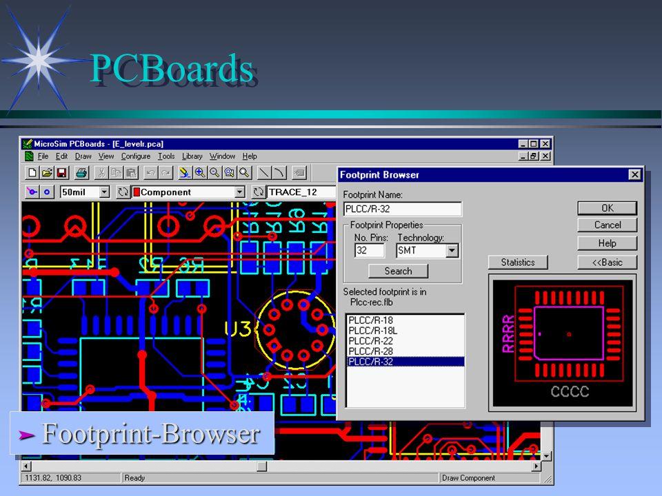 PCBoards ä Footprint-Browser