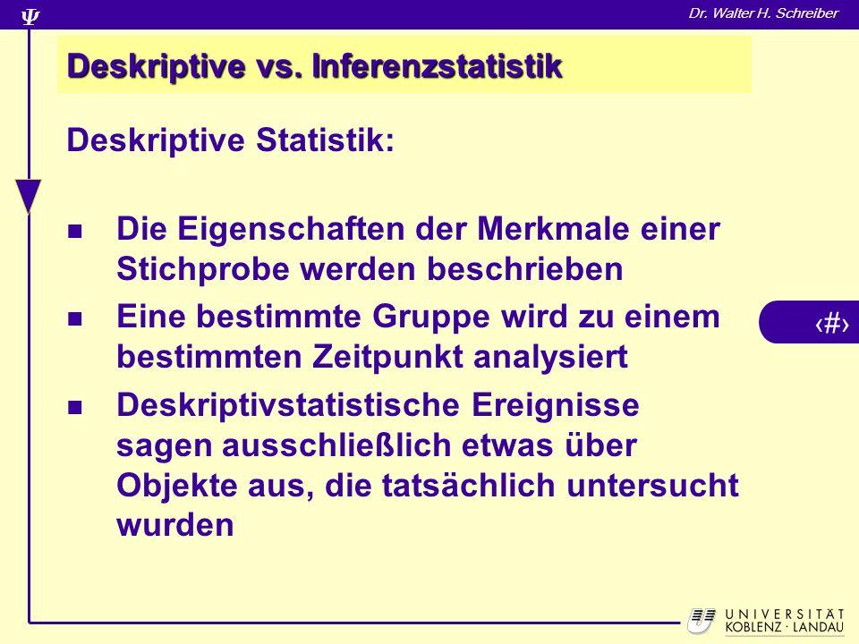 26 Dr.Walter H. Schreiber Deskriptive vs.