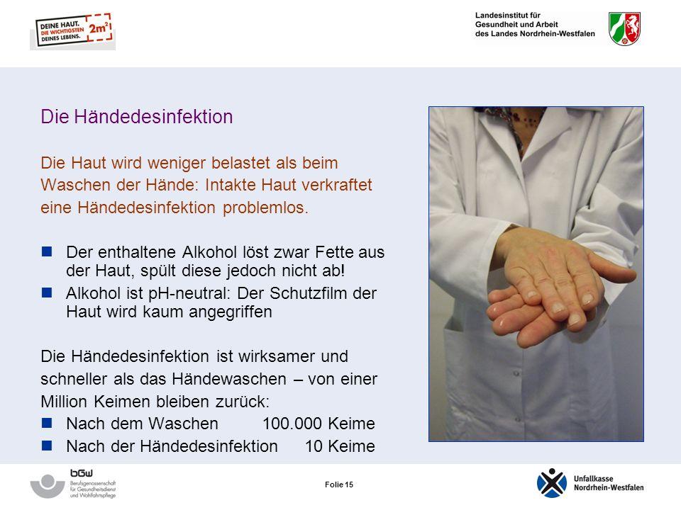 Folie 14 Duft- und Konservierungsstoffe Hautcremes von Patienten enthalten häufig solche Stoffe, diese können jedoch auch in Hautreinigungs- und Hände